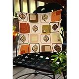 Best Thumbprintz Pillows - Thumbprintz Deco Leaves Indoor/ Outdoor Throw Pillow 18 Review
