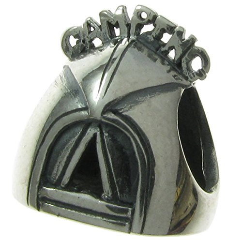925 Sterling Silver Camping Tent Bead For European Charm (Pandora Camping)