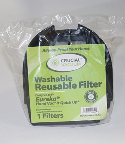 Eureka DCF11 Quick Up Washable & Reusable Dust Cup Filter Fits Eureka Models: 41A, 61, 70, 71, 71B, 61A, 70A, 70AX, 71A, 71AV, 71B, AG61A, UK61A, Z61A, RapidClean; Compare to Eureka Part # 39657, DCF-11, DCF11, 62558A ; Designed & Engineered by Crucial Vacuum