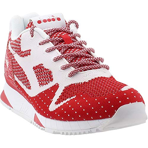 Diadora V7000 Weave II Mens Red Textile Low Top Lace Up Sneakers Shoes 10.5