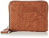 Liebeskind Berlin Women's ConnyW7 Handwoven Leather Zip Around Wallet Wallet, Cherokee Orange, One Size
