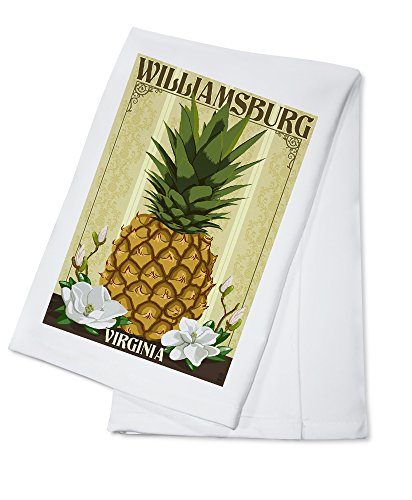 Williamsburg, Virginia - Colonial Pineapple (100% Cotton Absorbent Kitchen (Colonial Towel Bar)