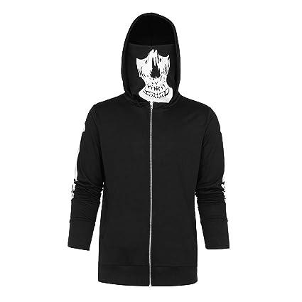 Amazon.com: 2019 Mens Black Pullover Hoodies Skull Print ...