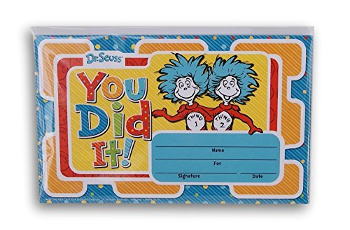 Dr. Seuss Cat in the Hat You Did It! Recognition Awards Certificates - 18 count ()