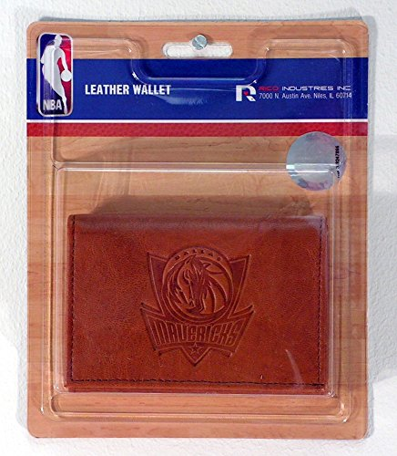 Rico Industries NBA Dallas Mavericks Leather Trifold Wallet with Man Made Interior