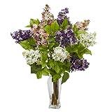 Nearly Natural 1256 Lilac Silk Flower Arrangement, Assorted