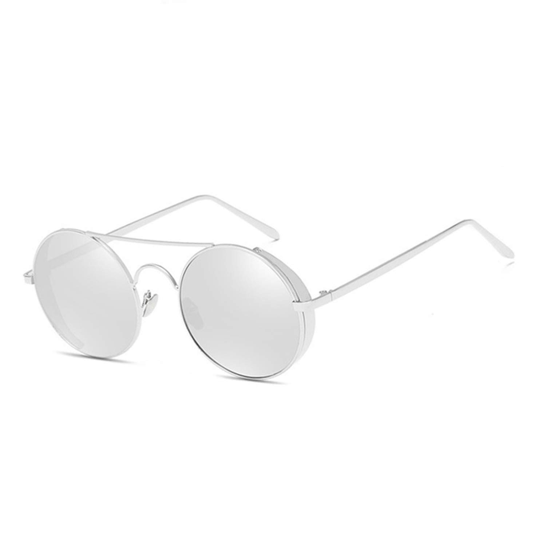 Vintage Round Sunglasses Women Travel Female Sun Glasses Metal Frame With Box 68025