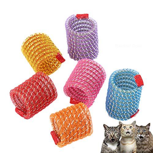 Pet Wide Colorful Springs Cat Toys for Cat Kitten Pets (Random Color) (5pcs)
