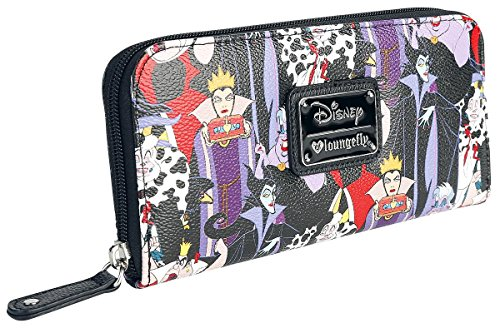 Loungefly Disney Female Villains Evil Queen Maleficent Cruella Ursula Wallet - Queen Of Hearts Purse