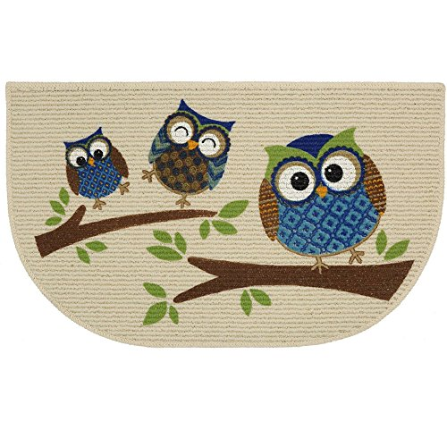 Mainstays Slice Kitchen Rug, Owl Branches, 18 x 30 Inches - Monica Mall