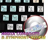 AVID MEDIA COMPOSER & SYMPHONY NITRIS GALAXY SERIES NEW KEYBOARD STICKERS SHORTCUTS 12x12 SIZE
