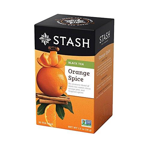 Stash Tea Orange Spice Black Tea, 20 Count (Orange Blended Tea)