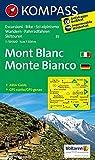 Monte Bianco - Mont Blanc: Wanderkarte mit Aktiv Guide, Radrouten und alpinen Skirouten. GPS-genau. Dt. /Ital. 1:50000 (KOMPASS-Wanderkarten, Band 85)