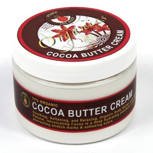 Cocoa Buttercream Jar - Pure Island Organic Cocoa Body Butter Cream 6 oz. by Curtis Bags (1 jar)