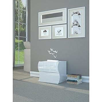 ONDA Chevet contemporain - Laqué blanc brillant - L 50 cm: Amazon.de ...