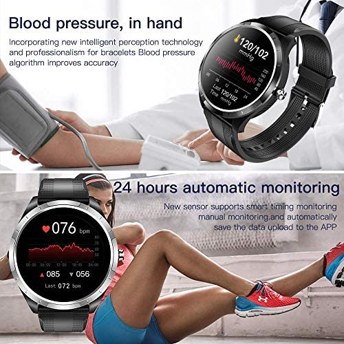 SPOREX EG4 Health Focused Smart Watch, Heart Rate & Blood Pressure Monitor, Fitness Tracker, Blood Oxygen Meter; Smartwatch for Android phones and iPhone Compatible; HD Touch Screen, Waterproof; Sport 5