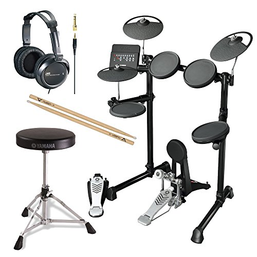 Yamaha-DTX450K-10-Customizable-Drum-Kits-Electronic-Drum-Kit-with-Yamaha-Drum-Throne-FIRTH5A-Drumsticks-and-JVC-Full-Size-Headphones