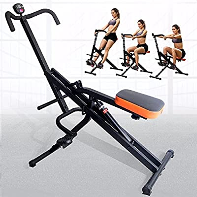 G&Gonline Full Body Fitness Horse Rider Abdominal Crunch Machine +Monitor