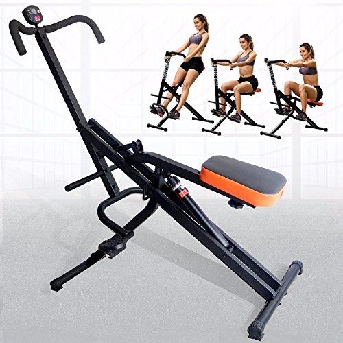 G&Gonline Full Body Fitness Horse Rider Abdominal Crunch Machine +Monitor