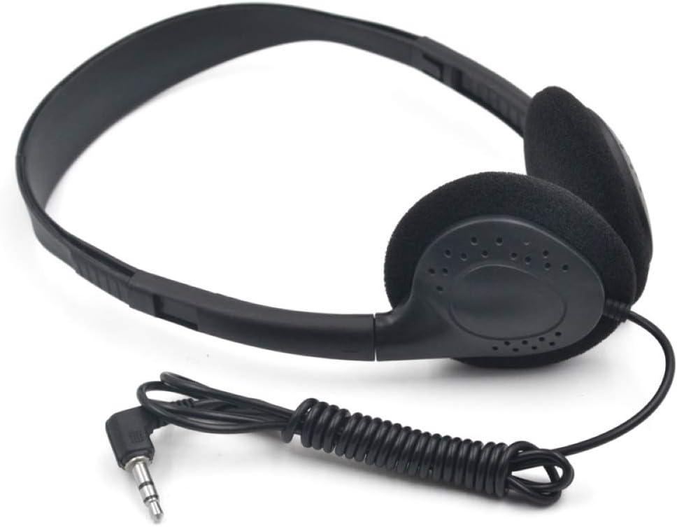 WYKsoku Bluetooth Earphones Headphones, Universal 3.5mm Plug Soft Earmuff Music HiFi Gaming Wired Headset Headphone - Black