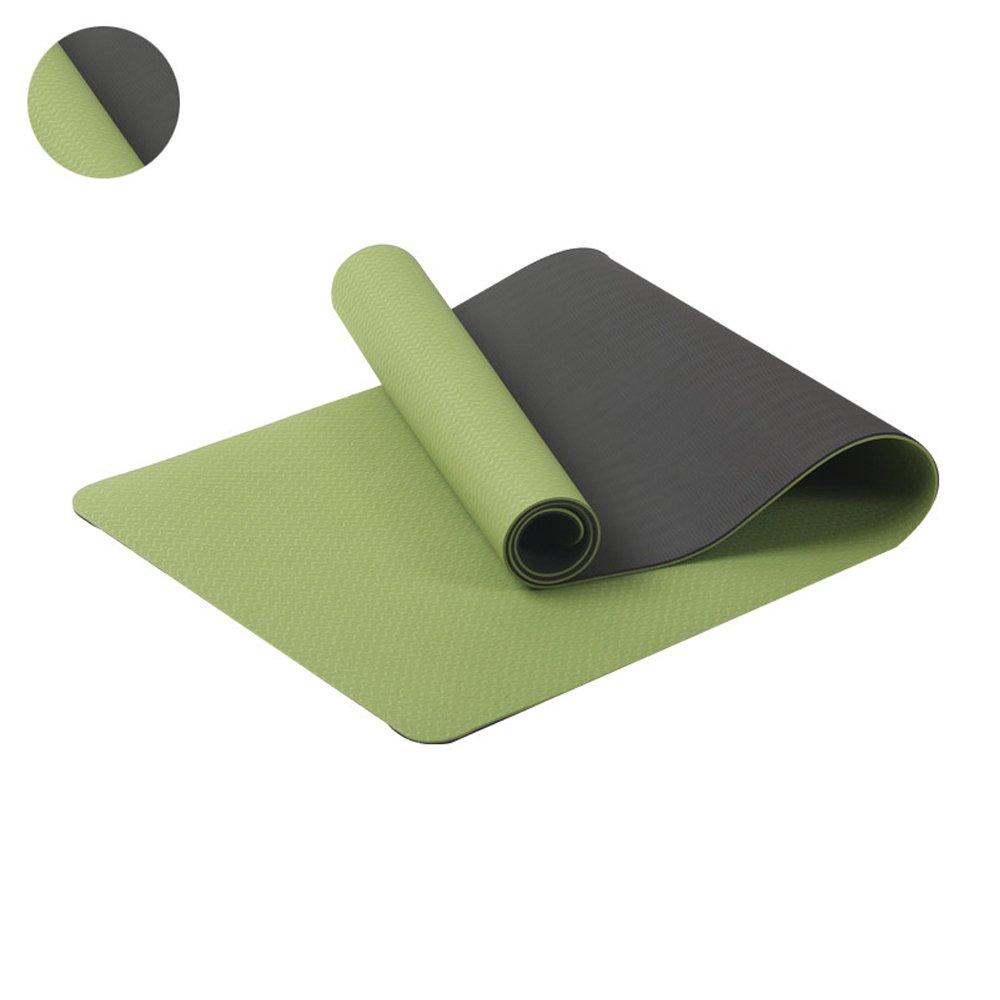 Vert GLJ Tapis De Yoga Anti-dérapant Débutant Tapis de Yoga (Couleur   vert, Taille   0.23in) 0.31in