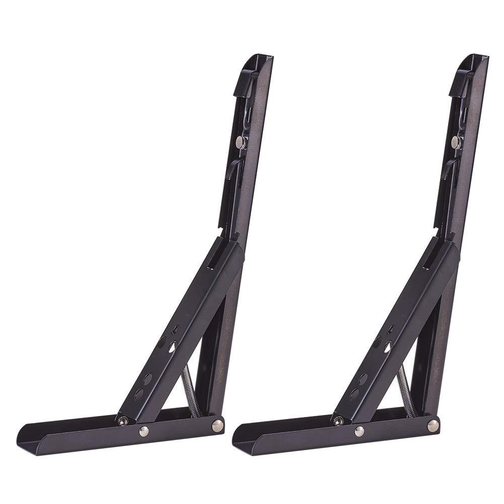 INCREWAY 2 soportes para estante de soporte plegables con muelle en /ángulo recto acero/_inoxidable