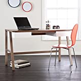Holly & Martin Hobbs Writing Desk 51'' Wide, Burnt Oak with White Finish
