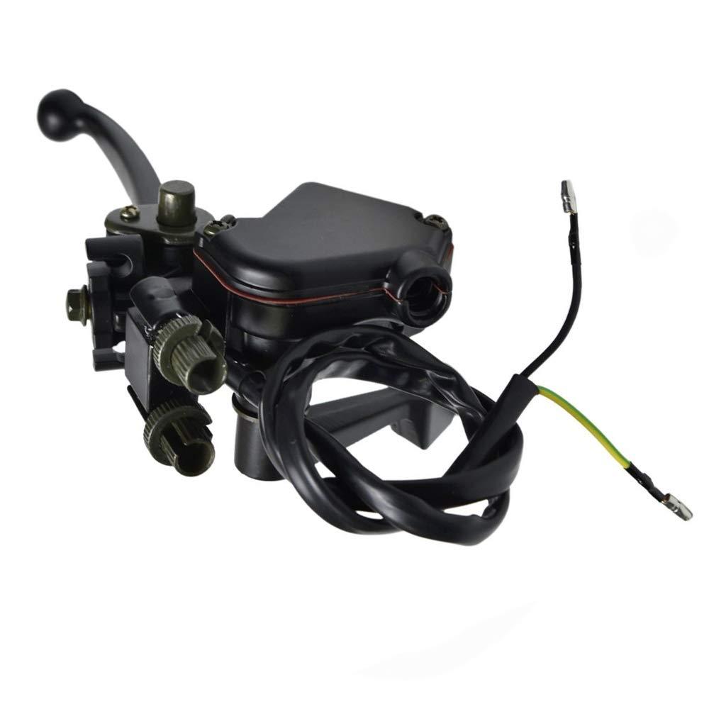7//8 22mm Thumb Throttle Cable with Dual Brake Lever Assembly for 50cc 90cc 150cc 250cc ATV Quad Roketa Taotao Sunl Kazuma Go Kart