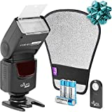 Altura Photo AP-UNV1 Bundle DSLR Camera Flash Speedlite for Canon Nikon Sony