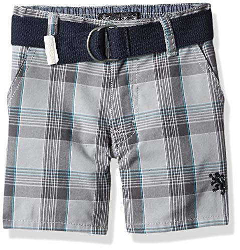 (English Laundry Boys' Toddler Plaid Belted Short, Multi, 2T)