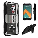 Cheap HTC 10 Case, DuroCase Hybrid Dual Layer Combat Armor Style Kickstand Case w/ Holster Combo for HTC 10 / HTC One M10 (Released in 2016) – (Game Controller)