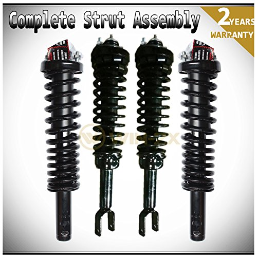 WIN-2X New 4pcs Front+Rear Right & Left Side Quick Complete Suspension Shock Struts & Coil Springs Assembly Fit 96-00 Honda Civic 97-00 Acura EL ()