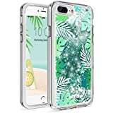 LUXMO PREMIUM Waterfall Case for iPhone 7 PLus/8 Plus,Quicksand Sparkling Durable Anti-Scratch Shockproof Protection Bumper Cover Case 5.5 inch for iPhone 8/7/6S/6 Plus- Tropical Summer