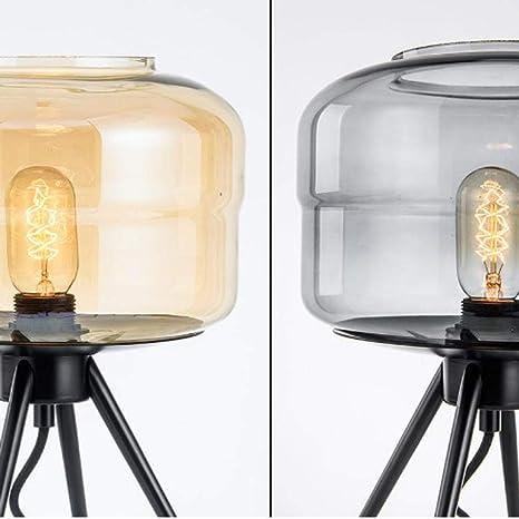 xiadsk Lámpara de Mesa Vidrio promoción ámbar salón Simple ...