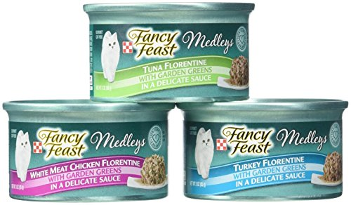(Fancy Feast Purina Medleys Cat Food Variety Pack - Florentine Collection  - 3 Oz, 18)