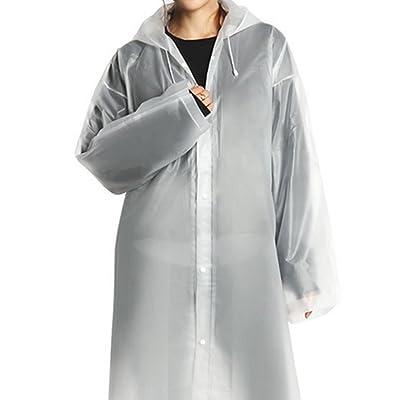 YOBOKO Raincoat Cape de Pluie Femme Camouflage pour la chasse Camping Militaire Poncho-pluie Capuche Imperméable Vêtement de pluie Transparent