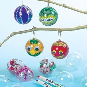 Bolas de navidad infantiles transparentes para decorar y colgar en el rbol manualidades - Bolas navidad transparentes ...
