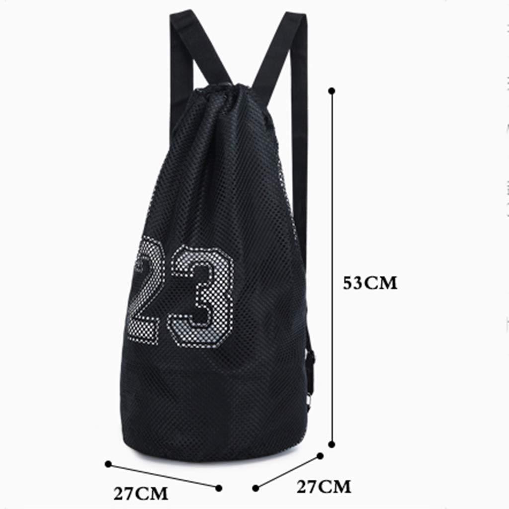 Lixin Drawstring Pocket Drawstring Gym Bag Color : Gray, Size : 5327cm