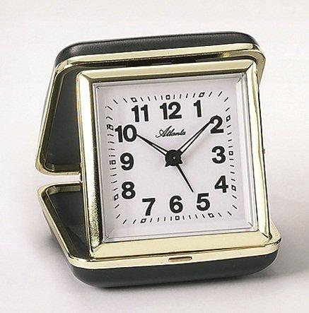 Atlanta Mechanic Travel Alarm Clock Black 1005 7 Amazoncouk