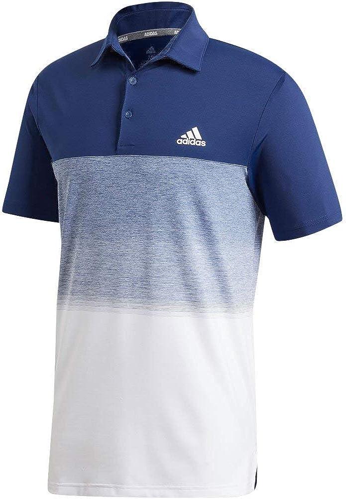 adidas Mens Ultimate365 Fade Stripe Polo Shirt