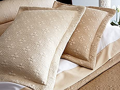 Peacock Alley Lucia Coverlet In Champagne Color (Queen Size)