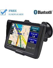 AWESAFE Auto Navigation GPS 7 Zoll Touchscreen Navigationsgerät Navigationsystem mit Lebenslangen Kostenlosen Kartenupdates für Taxi Kfz LKW PKW in 52 Ländern …