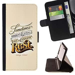 Ihec-Tech / Negro Flip PU Cuero Cover Case para Apple Iphone 5 / 5S - Resto Oro Urgente Vintage Retro Vital