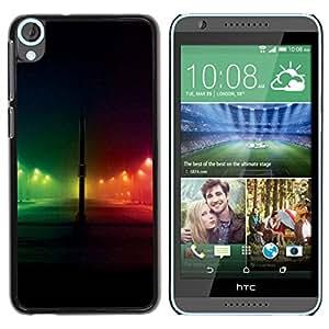 Paccase / SLIM PC / Aliminium Casa Carcasa Funda Case Cover para - Night Rainbow City Black - HTC Desire 820