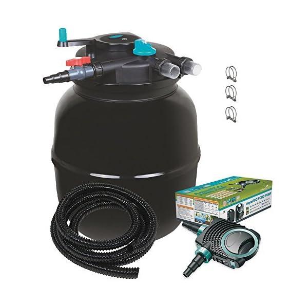 Kit de filtro presurizado para carpas japonesas y esterilizador UV/todo en uno,/para estanques de hasta 50/000/l
