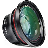 Camcorder Lens 2 in 1 Full HD 72mm Professional 0.39X Super Wide Angle Lens with 37mm Thread Macro Portion Kit for Photography and Video Camera