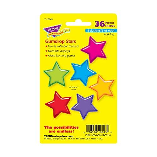 Trend Enterprises Gumdrop Stars Mini Accents Variety Pack, 36 per Package (T-10843) Photo #3