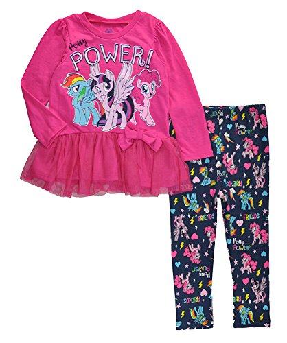 My Little Pony Little Girls Toddler Character Print Tunic & Printed Legging Set, Berry -