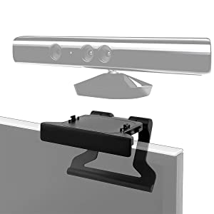 LANMU TV Mount Clip Stand for Microsoft Xbox 360 Kinect Sensor, TV Mounting Holder (Black)