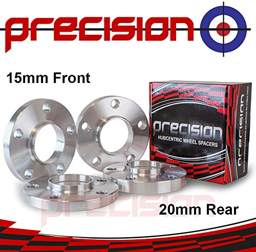 Staggered Fitment Hubcentric Alloy Wheel Spacers 15mm/20mm for À udi SQ5 Quattro Part No. 2PHS20+2PHS21151 Precision
